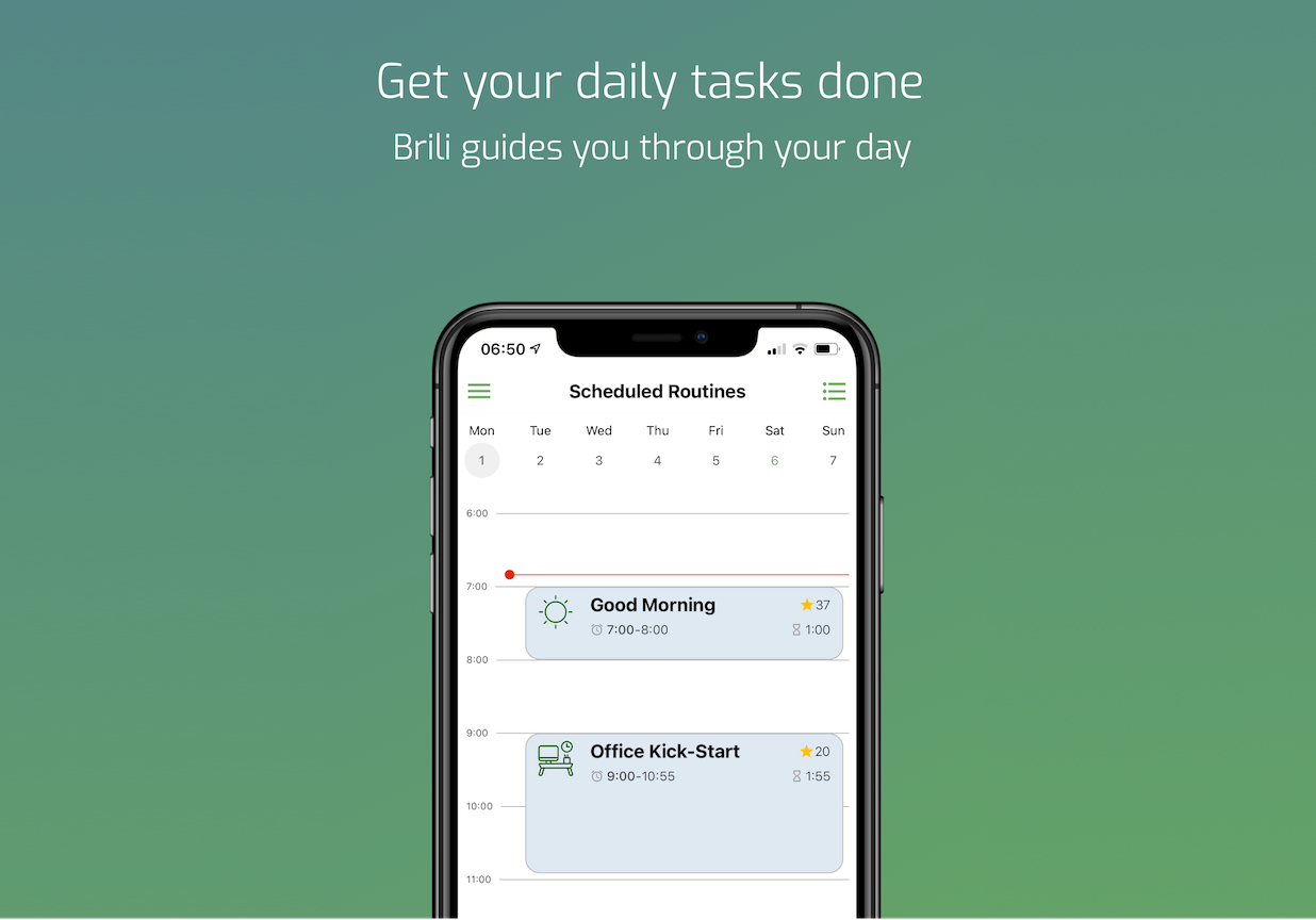 Welcome to the new Brili Routines app!